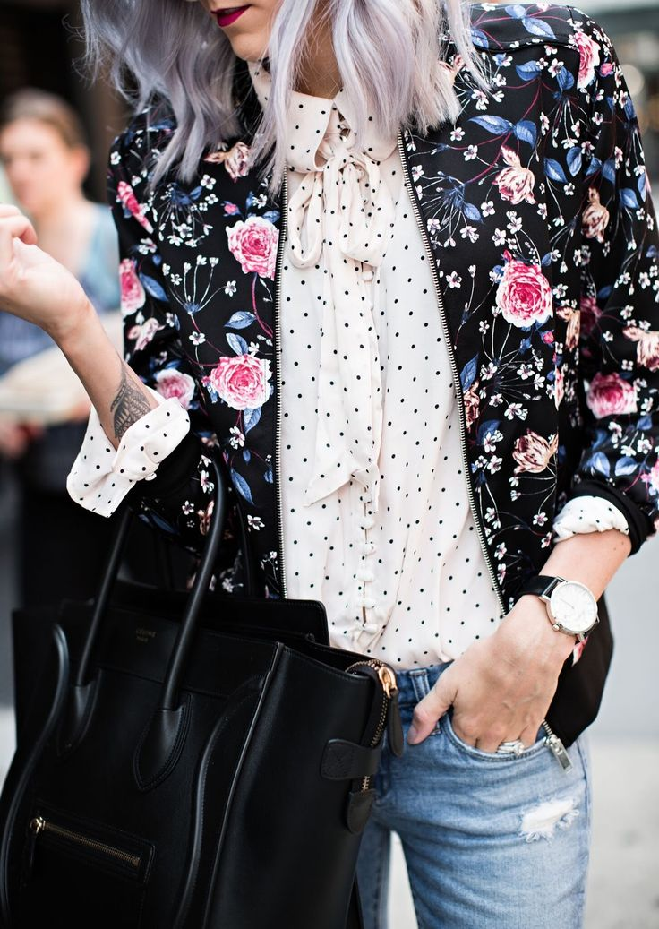 Mixing Prints - Floral & Dots \\ Fall Outfit Idea                                                                                                                                                                                 More