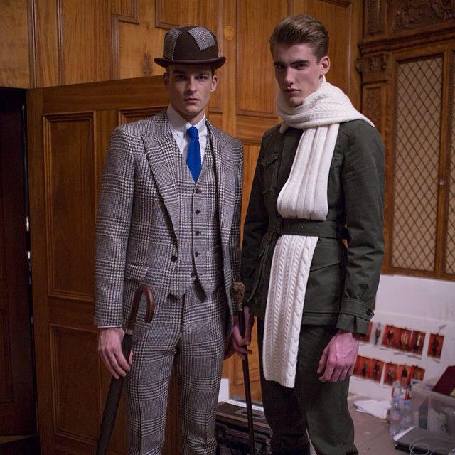Two of the looks from our #LCM 12 piece capsule collection designed with fabrics hand picked by Jeremy Hackett himself #HackettLondon #SSLF #Menswear #British #Gentleman