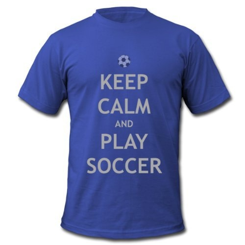 Keep Calm & Play Soccer, Men's T-Shirt by American Apparel, royal blue, S Spreadshirt
