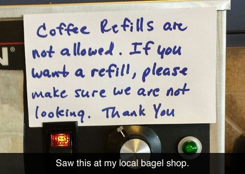 At the local bagel shop