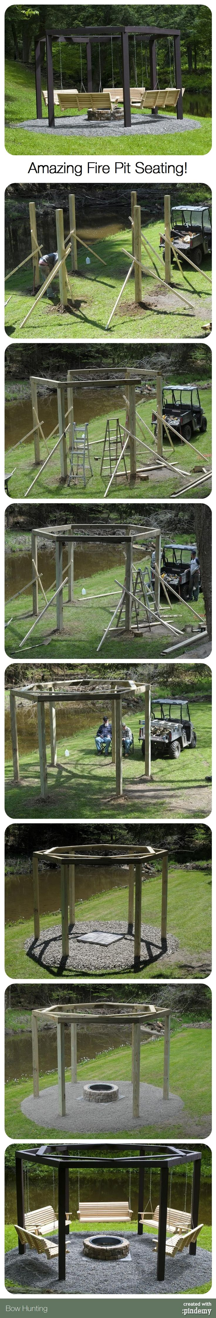 Amazing Fire Pit Seating! via pindemy.com