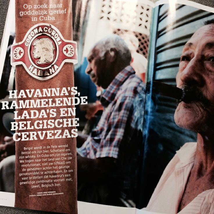 """""""Maar nee schat, wij lezen Ché voor het werk."""" De trip van het mannenblad Ché naar Cuba (op uitnodiging van Cubacigar) leverde een mooie reportage op in het meinummer. Over Cubaanse sigaren, uiteraard. Maar ook over Belgisch bier en hoe u beiden combineert. Jawel. Nu verkrijgbaar in de betere boekhandel."""
