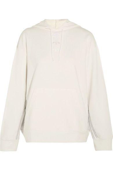 Adidas Originals By Alexander Wang | Logo appliquéd embroidered cotton-jersey hooded top | NET-A-PORTER.COM