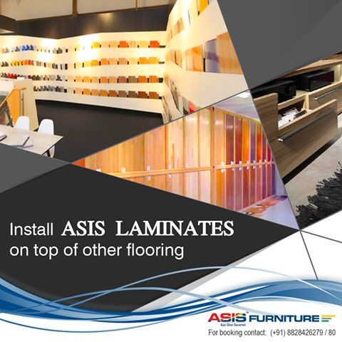 "Did you know Laminate is also known as a ""floating floor"", because it can be installed on top of a flat floor without the use of nails or other things that will damage the floor beneath it.‪#‎FurnitureFact‬ ‪#‎Asisfurniture‬"