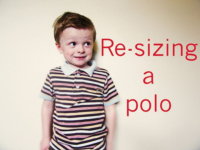 resizing an adult polo shirt to a child's polo shirt #back2school