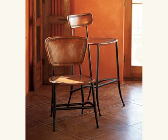 Ladder Stitch Leather Stool  Another Cool Item From Napa Style