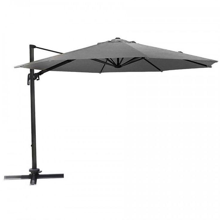 Garden Parasol Umbrella Outdoor Patio Hanging Sun Shade Canopy Large 3.5 M Grey #GardenParasolUmbrella #GardenUmbrella