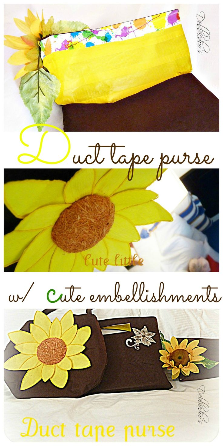 How to make scrapbook look good - Make A Duct Tape Purse Inspiration For Putting This Sunflower Pattern Would Look Good On A Greeting Card Or A Scrapbook Page