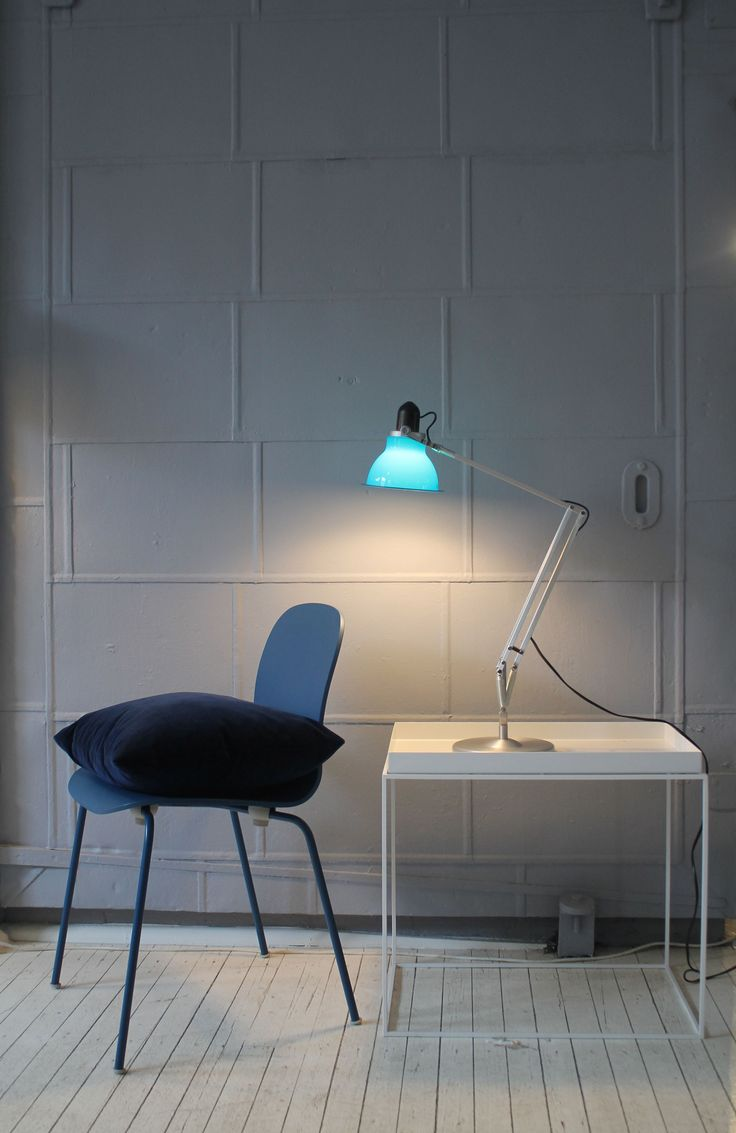 Cult | Sydney showroom featuring Tray table from HAY, Anglepoise Type 1228 and Tate Colour chair from Cappellini.