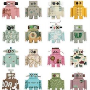 Robots wallpaper from Studio Ditte