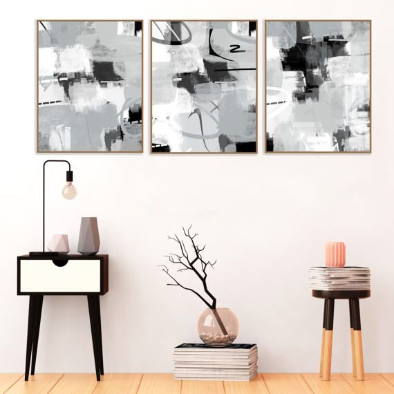 Grey Abstract Art Modern Printable Decor by InspirationAbstracts  #Abstract #Art #Modern #Grey #Interiors #Printable #Contemporary #Minimal