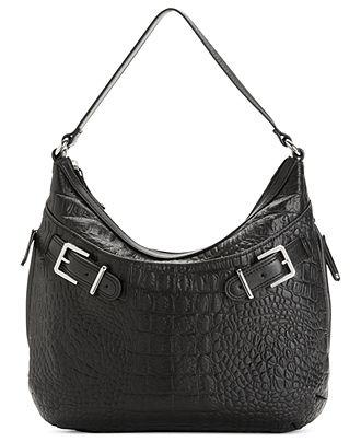 Tignanello Handbag, Croco Structured Hobo - Hobo Bags - Handbags & Accessories - Macy's