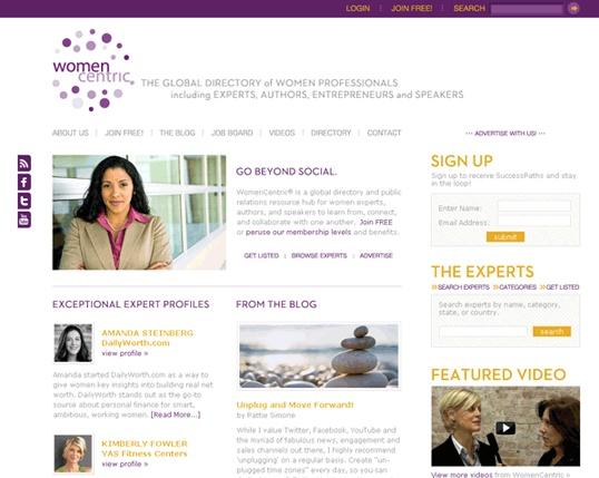 WomenCentric.net Website