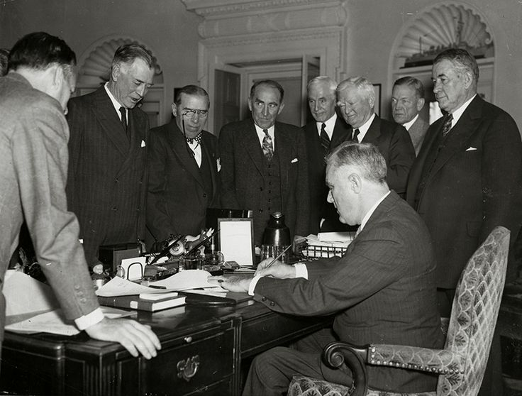 November 4, 1939: FDR signs a bill loosening the Neutrality Acts to permit 'cash and carry' sales of U.S. weapons to warring nations.