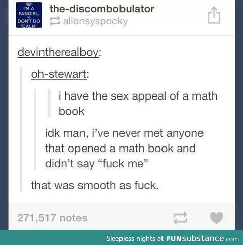 The sex appeal of a math book.