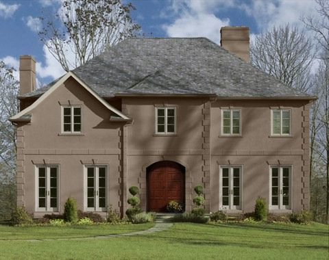 1000 images about red brick house paint colors on - Mocha exterior house paint ...