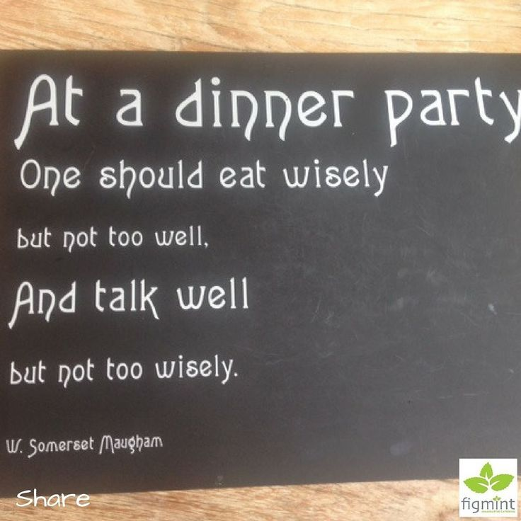 A reminder for tonight's dinner party wherever it may be. #dinnerparty #foodforthought #celebrationswithfigmint #figmintcatering #sydneycaterer