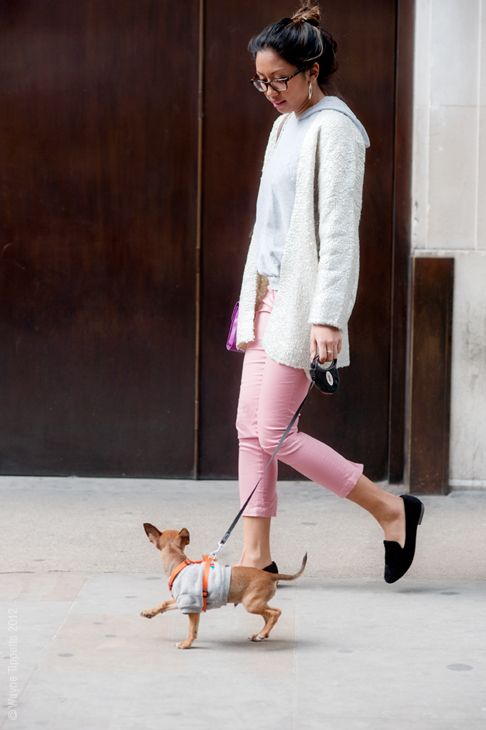 The best accessory.: Street Fashion, Slippers Inspiration, Everyday Fashion, Street Life, London Street, Stk Slippers, Dogs Street, Black Slippers, Fashion Inspiration