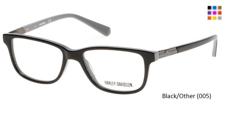 HARLEY-DAVIDSON HD0131T - Black/Other (005) Eyeglasses for adults, frames for women prescription eyewear with high quality lenses,Prescription lenses with anti scratch coating.