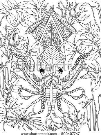Ocean Coloring Page Octopus