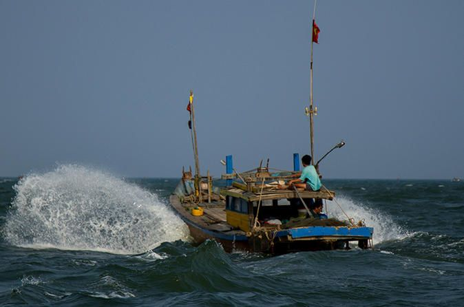 Full-day Offshore Fishing in Hoi An from Da Nang City Engage in a spot of island hopping and take a boat trip to sleepy Cham Island, located off the coast of Hoi An. You will go offshore fishing, discover idyllic fishing spots, unspoiled beaches, and an abundance of colorful marine life. You can follow that up by swimming, lazing on the beach, and indulging in a fresh seafood lunch.Heading to Cua Dai pier, you will board on a fishing boat and start the Cham island tour. Cham I...