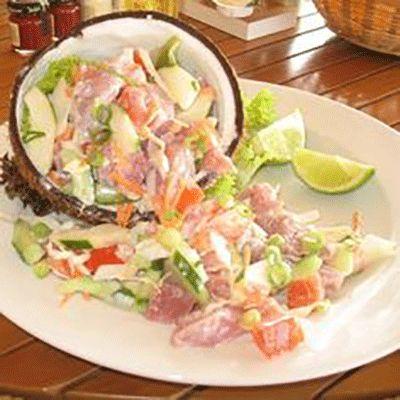 Εξωτική σαλάτα ψαριού ( Ταϊτή )