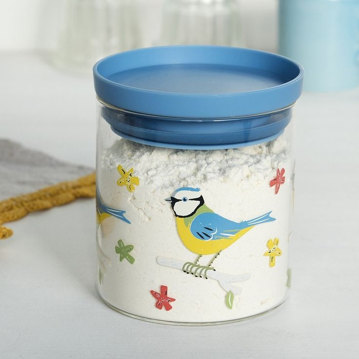 Blue Tit Glass Storage Jar
