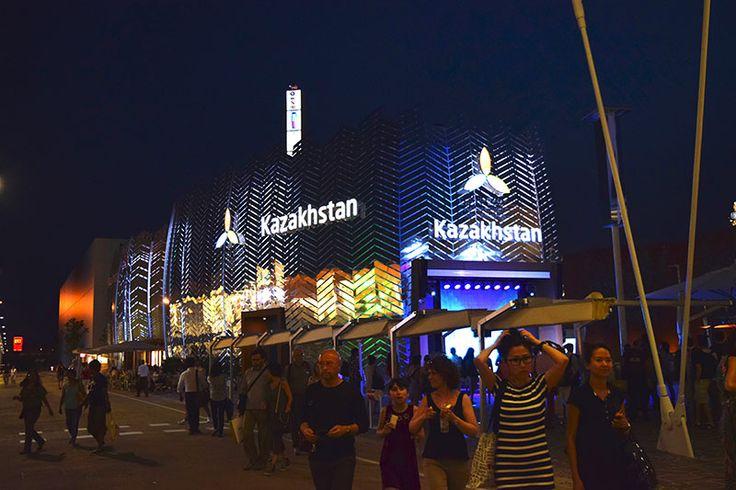Kazakhstan Pavilion by night at Expo Milan 2015 #raiexpo #expo2015 #italy #milan #worldsfair #kazakhstan