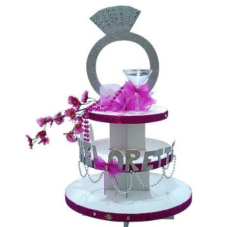 Centro de Mesa Pastel Cupcake, decoración, decoración despedida de soltera…