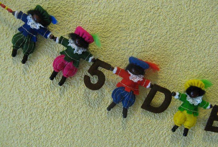 Mijn HobbyBlog: DIY Sinterklaas slinger van vilt