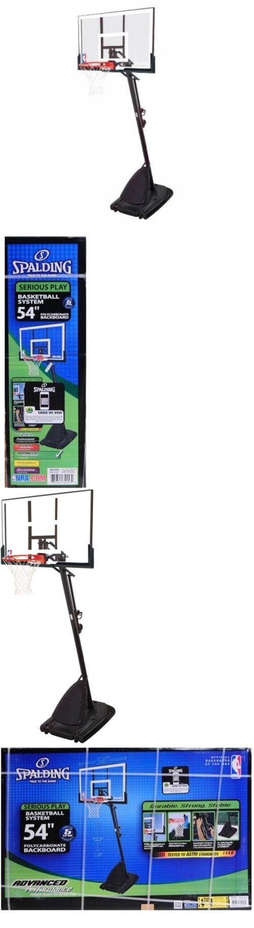 Backboard Systems 21196: Spalding 54 Portable Basketball Hoop Adjustable Height Goal Backboard Pole Net -> BUY IT NOW ONLY: $264.48 on eBay!