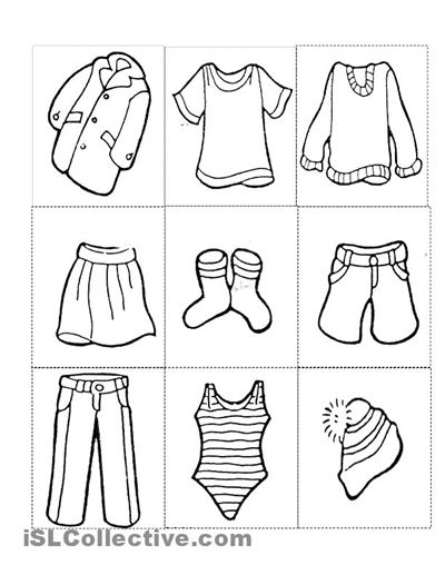 preschool winter clothes coloring pages - photo#8
