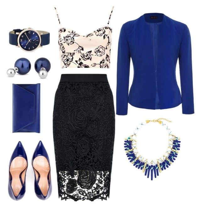 """Lapis lazuli"" by jolka-krawiec ❤ liked on Polyvore featuring Quiz, Boohoo, Noee, Gianvito Rossi, Betty Jackson, Marc Jacobs and Ally Fashion"