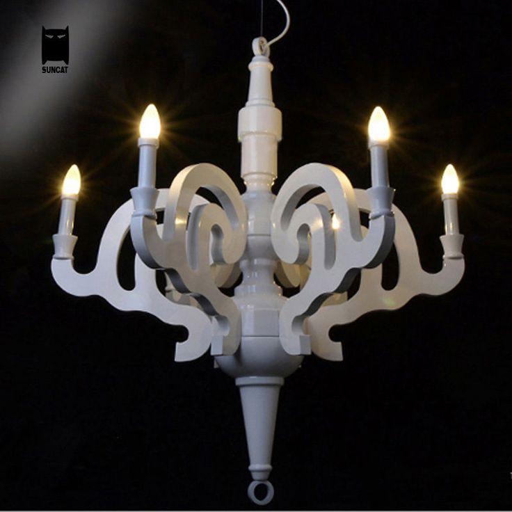 Wood Paper Chandelier Light Fixture Modern Ceiling Pendant Lamp For Living Room Soleilchat