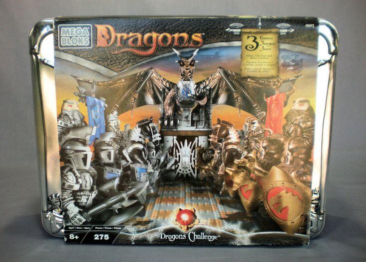 MEGA BLOKS DRAGONS CHALLENGE 9897 3 GAMES CHESS CHECKERS MELEE COMBAT NEW SEALED #KBElectronics