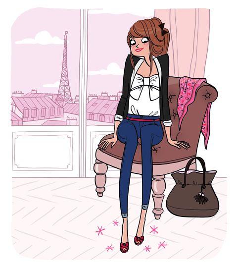 Une joie de petite fille qui porte pour la 1ère fois une paire de chaussures qu'elle vient d'acheter