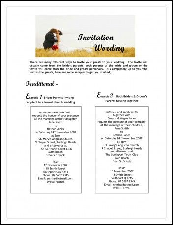 35 best Wedding invitation wording` images on Pinterest Invites - marriage invitation mail format