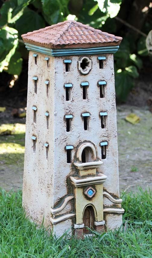 Tower #1 | Harry Tanner Design  Miniature ceramic house lamp sculpture