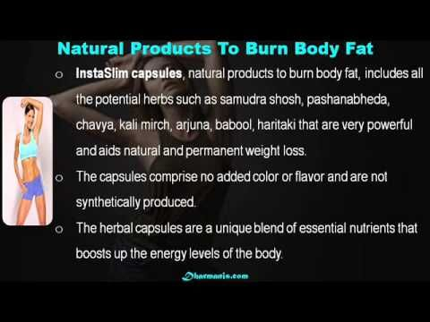 This video describes about alternative natural products to burn body fat effectively. You can find more detail about InstaSlim capsules at http://www.dharmanis.com