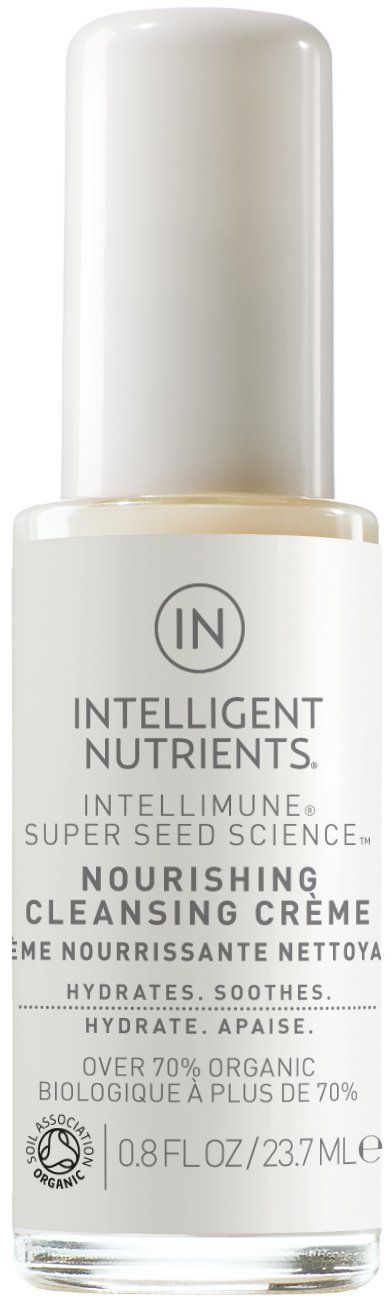 Intelligent Nutrients - Nourishing Cleansing Creme for All Skin Types, Especially Dry Skin, Travel Size, 0.8oz. A MUST FOR DRY SKIN TYPES: A gentle cleansing milk that dares to deliver brightening benefits while leaving skin feeling supple. Milky formula balances, supplements, and softens. Leaves skin feeling supple and smooth yet clean and fresh. NUTRIENT-RICH COCONUT MILK: Our cleanser calms and soothes skin while maintaining its softness. Contains summer lilac plant stem cells to help...