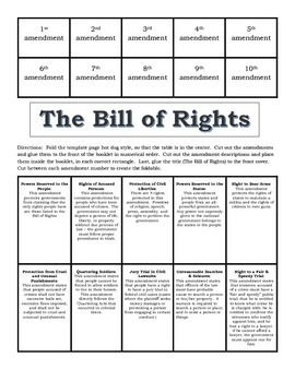 bill of rights foldable students. Black Bedroom Furniture Sets. Home Design Ideas
