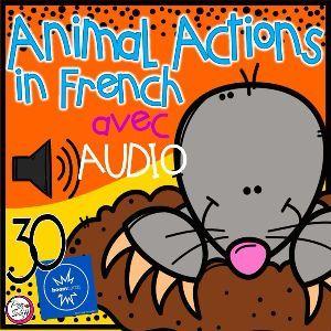 Boom Cards - Les verbes - Animaux - avec Audio