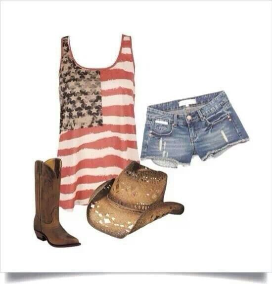 Patriotic country girl
