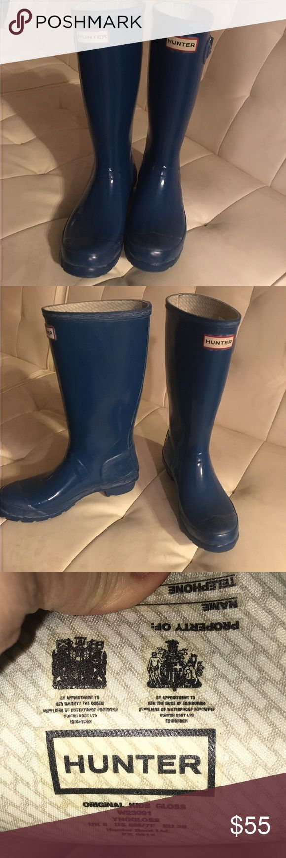 Sale! Discounted Turquoise Hunter Rainboots! Gorgeous color for Hunter Boots size 7authenticity guaranteed :) Hunter Shoes Winter & Rain Boots