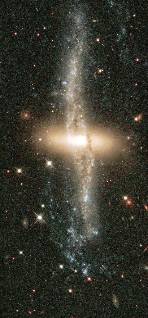 NGC 4560 Colliding Galaxies   by sjrankin
