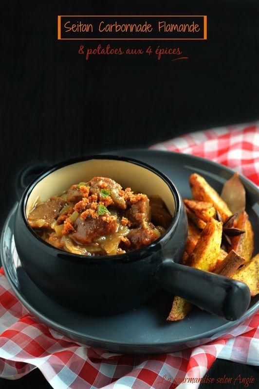 recette seitan - carbonnade flamande - potatoes au four aux 4 épices