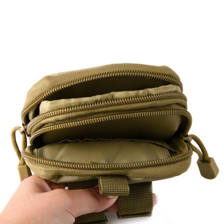 Cinturón Táctico Cintura Fanny Pack Bolso EDC Campamento Senderismo Petaca Billetera teléfono