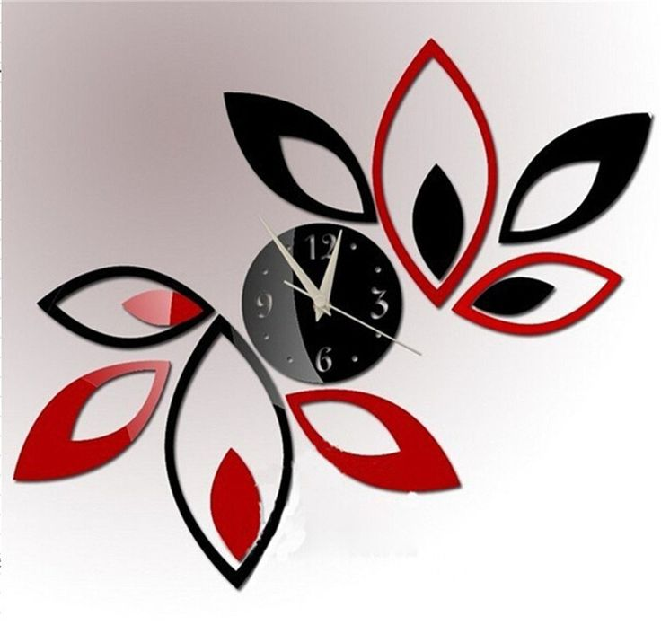1000 ideas about mirror wall clock on pinterest clocks - Wall picture clock decoration ...