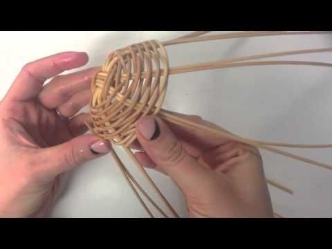 Weaving a Round Reed Basket - YouTube