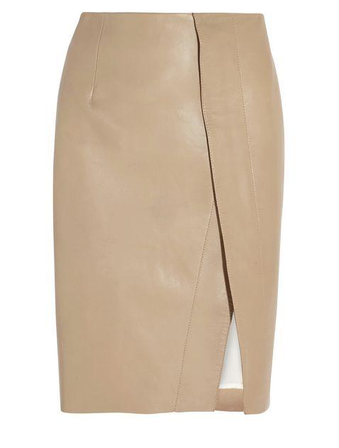 Acne Kay leather skirt. Zipped down pencil skirt so cute.